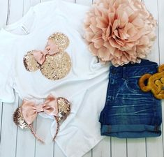 Your place to buy and sell all things handmade Cute Disney Outfits, Disney World Outfits, Disneyland Outfits, Disneyland Shirts, Disney Inspired Outfits, Disney Shirts, Disney Style, Disney Clothes, Minnie Mouse Silhouette
