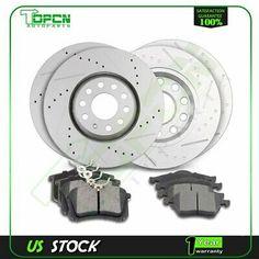 Toyota Rav4 96-00 Drill Slot Brake Disc Rotors FRONT