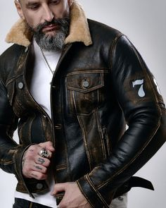 Leather Jeans Men, Leather Jacket, Dad Day, Mature Men, Dads, Jackets, Store, Winter, Instagram