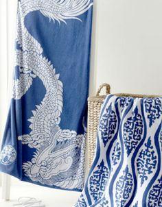 Indigo Blue and White fabrics #indigoeveryday