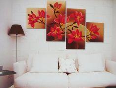 Tűzvirágok, 4 részes, 3D falmatricaszett
