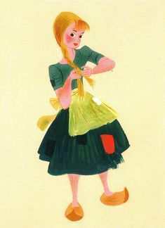concept art for Disney's Cinderella by Mary Blair