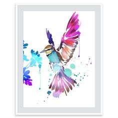 Summer Thornton - Un Bel Oiseau, Mounted Limited Edition Print, 50x60cm