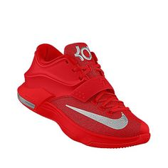 buy online 5bcfb d43a9 Nike KD 7 id  Not sure of the name, but the red tank, black basketball  shorts and red and black fitted cap will work for these.