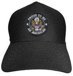 PROUD TO BE AN AMERICAN Baseball Cap - Meach's Military Memorabilia & More