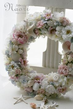 shell wreath...