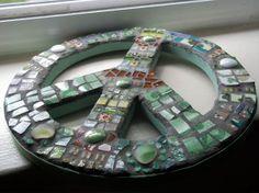 Peace sign mosaic