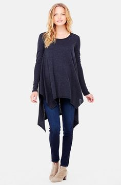 Ingrid & Isabel® Handkerchief Maternity Tunic Top available at #Nordstrom
