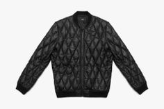 Los Angeles-based brand Stampd presents a thin black diamond quilted leather bomber jacket with nylon lining and front pockets with hidden seams. Further details include inside pocket featuring Finest Made woven label, thin black ribbing, Stampd zipper and black-on-black stitching. With quality always proceeding quantity, this black diamond quilted leather bomber jacket will be available from Stampd's online shop beginning February 14 for $950 USD