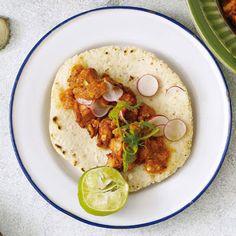 Tacos: Shrimp in Adobo @keyingredient #tacos #shrimp