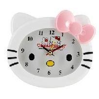 Cute Kitty Shaped Alarm Clock (White) FREE SHIPPING $15.99