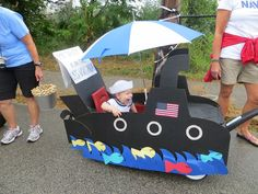 Submarine float, wagon Labor Day Parade!