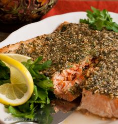 Herb Basted Salmon - Pinner said: The salmon was so moist and delicious prepared this way!  This has become one of my favorite ways to cook salmon!