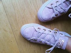 New converse, dusky pink & rose gold  #converse #trainers #officeshoes…