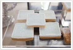 Custom printed cookies! Modern Luxe La Jolla  Wedding by Alchemy Fine Events: The ultimate dessert bar!