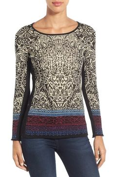 NIC+ZOE 'Lotus' Long Sleeve Top (Regular & Petite) available at #Nordstrom