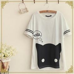 Buy 'Fairyland – Short-Sleeved Cat Print T-Shirt' with Free International Shipping at YesStyle.com. Browse and shop for thousands of Asian fashion items from China and more!