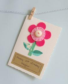 Handmade personalised card £3.50
