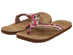 8. Sanuk Fraid Too Grape - Zappos.com LOVE these flip flops!!! I almost accidentally wore them to work today.