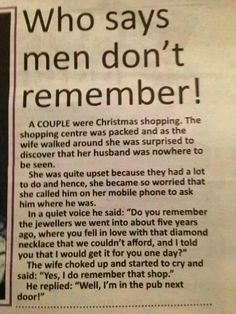 Men Don't Forget; short story example. Newspapers are concise. It's possible to tell a full story in few words.