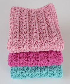 The Star Stitch: free pattern (great for washcloths or potholders)