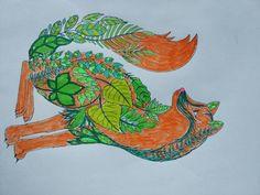 Lis z liśćmi