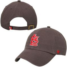 Men s St. Louis Cardinals  47 Navy Red Basic Logo Clean Up Adjustable Hat 415a4027cdf