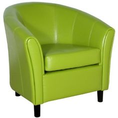BEST Napoli Lime Green Leather Chair