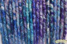 Winter Themed Synthetic Crochet Dreads x 10 DE by blacksunshineiow