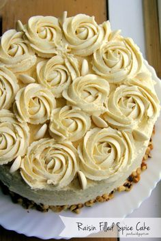 Raisin Filled Spice Cake with Vanilla Pudding Frosting. Looking for something different? Have we got a deal for you.