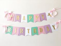 Excited to share the latest addition to my #etsy shop: Unicorn Birthday Banner Unicorn Girl 1st Birthday Decorations Rainbow Birthday Party Garland Unicorn Rainbow Baby Shower Personalized Banner