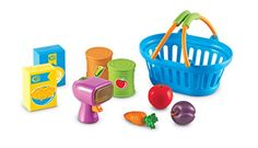 Learning Resources New Sprouts Shop It! - Would you like paper, plastic, or the Learning Resources New Sprouts Shop It! This fun set is going to give them all the fun imaginative play. Gifts For 3 Year Old Girls, Variety Of Fruits, Toy Kitchen, Kitchen Sets, Play Food, Creative Play, Imaginative Play, Learning Resources, Learning Toys