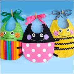 Clotilde web site.  Bibs.  I thought these were so cute.  They seem easy to make.