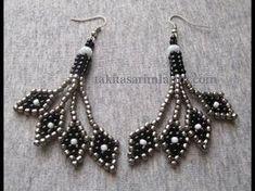 Best Seed Bead Jewelry 2017 – Diamond dangle earrings ~ Seed Bead Tutorials – Cute Pins For You :) Bead Jewellery, Seed Bead Jewelry, Seed Bead Earrings, Beaded Earrings, Seed Beads, Bugle Beads, Unique Earrings, Diamond Dangle Earrings, Hoop Earrings