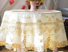 Modern Round Table Cloth