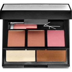 NARS NARSissist Blush, Contour, And Lip Palette (£39) ❤ liked on Polyvore featuring beauty products, makeup, cheek makeup, blush, beauty, cosmetics, rose blush, nars cosmetics, lip blush and shimmer blush