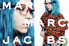Blue hair + Modern punk plaid print | Marc by Marc Jacobs Fall Winter 2014 Ad Campaign.