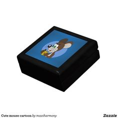 Cute mouse cartoon trinket boxes