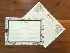 Hey, I found this really awesome Etsy listing at https://www.etsy.com/listing/485154393/recipe-cards-5x7-recipe-cards-set-of-10