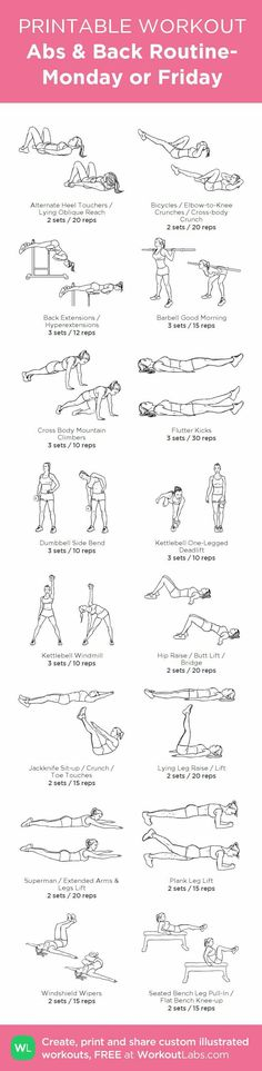 Monday and Friday workout