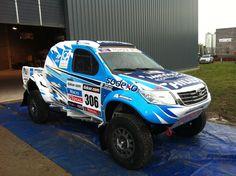 #Dakar2013 Lucio Alvarez Andino Rally Team Overdrive #Racing Toyota Hilux for #TheDakar