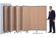 Wall Mounted Room Dividers - Screenflex Portable Partitions