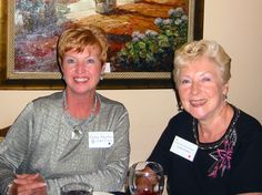 Mayor Mary Ann Servian and Carole LaCentra at the fairwell dinner for Alain Taulere at the Cafe of the Arts in Sarasota. Alain, who initiated the Sister City relationship between Perpignan & Sarasota in 1994, was moving to Costa Rica shortly after the event