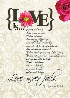 I Corinthians 13:4-8