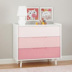 Chromatic Ombre 3-Drawer Dresser (Pink) from The Land of Nod on Catalog Spree