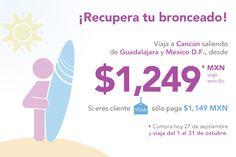 Visita Cancún con tarifas especiales saliendo desde Guadalajara o el D.F.