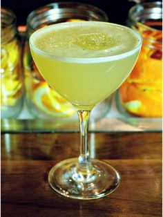 DOWNTOWNER -This floral drink brings together elder flower, absinthe, and vanilla notes of Jameson Black Barrel.