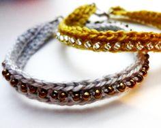 Crochet Seed Bead Bracelet #howto #tutorial