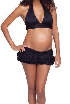 Ingrid & Isabel Maternity Banded Triangle Bikini Top