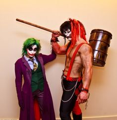 The Joker and Harley Quinn - gender swapped ~ Cos Play - Honestly can't decide if this is the creepiest thing i have ever seen, the most awesome, or both.
